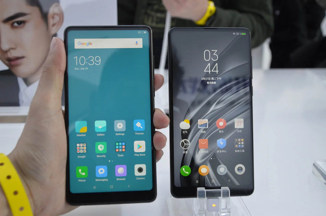 Xiaomi Mi MIX - Comparativa Frontal