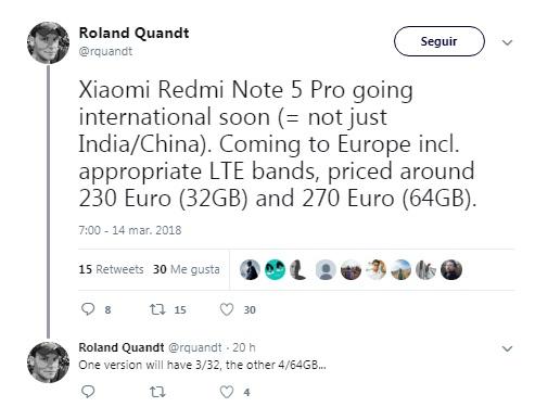 Xiaomi Redmi Note 5 Pro twitter