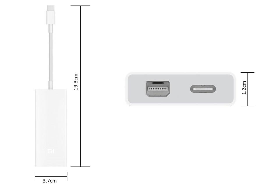Xiaomi USB Type-C to Mini DisplayPort - Diseño