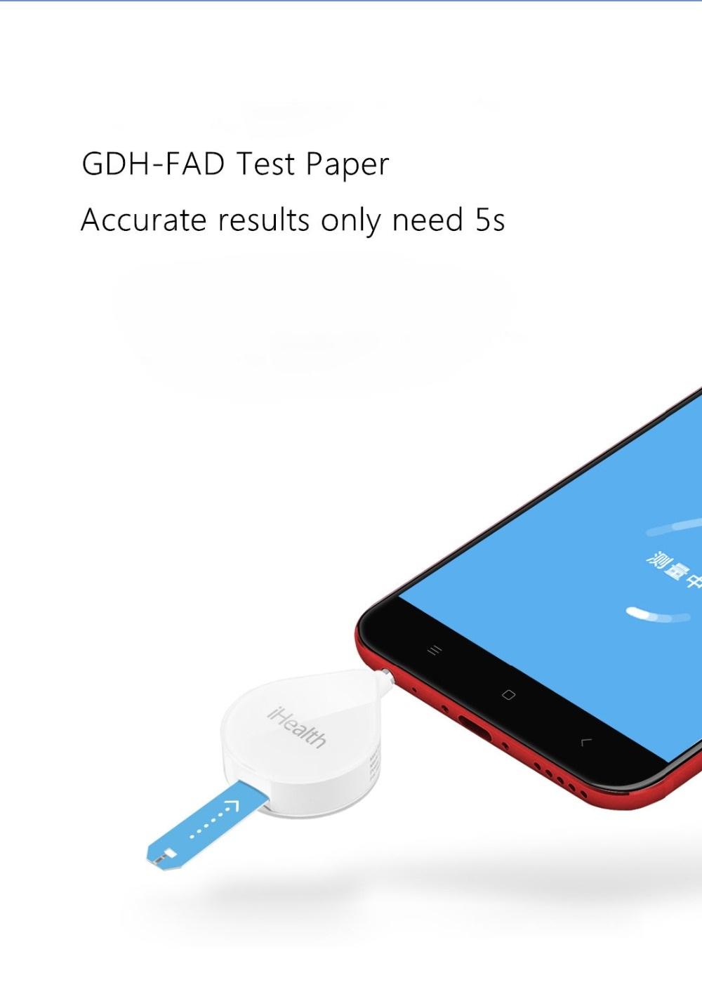 Xiaomi iHealth Smart Blood Glucose Meter uso