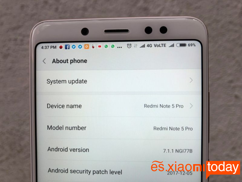 Xiaomi Redmi Note 5 Pro Análisis - Sistema operativo