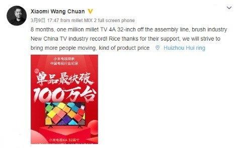Xiaomi Mi TV 4A de 32 pulgadas publicación