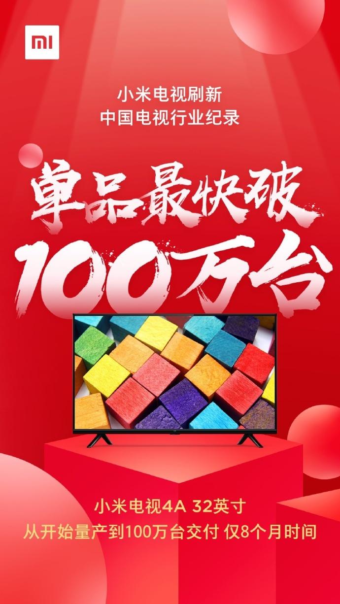 Xiaomi Mi TV 4A de 32 pulgadas récord