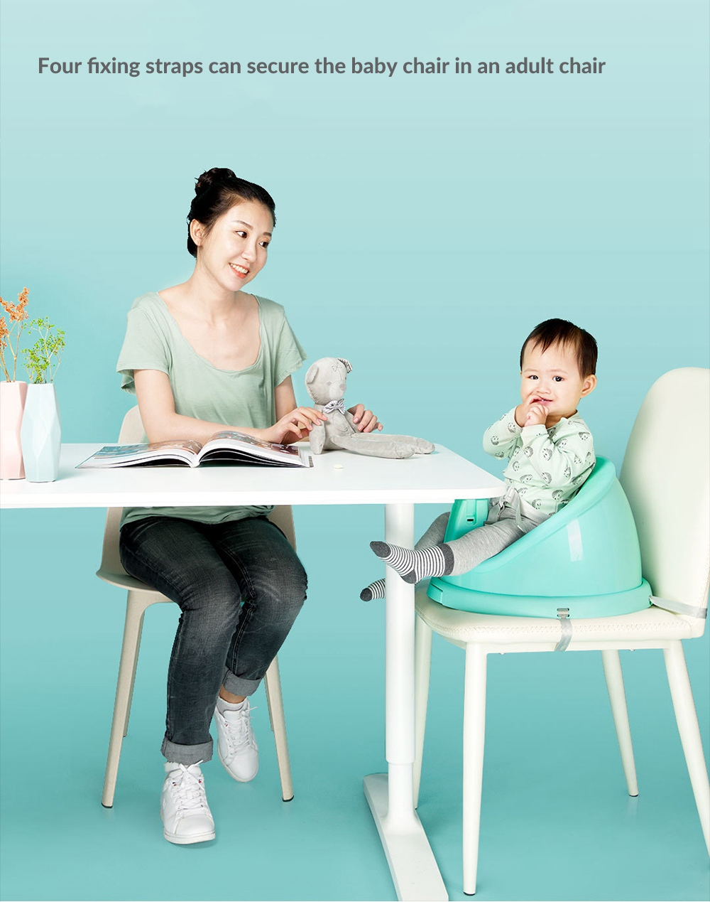 Xiaomi Mijia Multifunctional Baby Chair cinturones