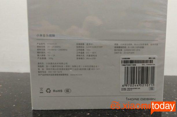 Xiaomi Mi Music Alarm Clock - Caja