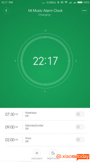 Xiaomi Mi Music Alarm Clock - Uso y aplicación móvil