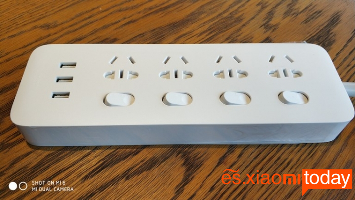 Xiaomi Mijia Power Strip de interruptores independientes - Diseño