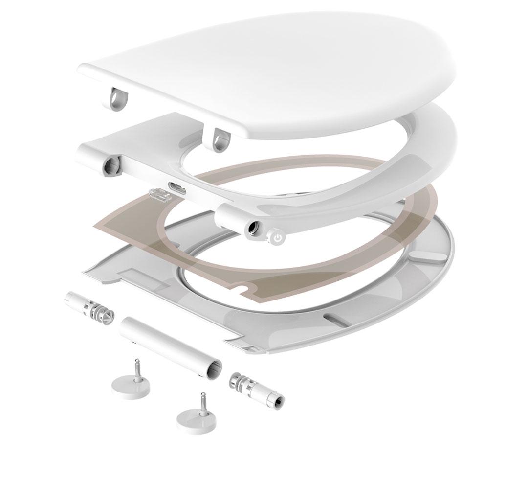 Xiaomi Warm Toilet Seat medidas, ensamblaje