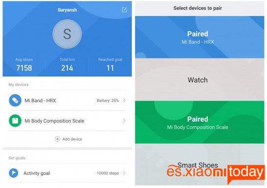 Xiaomi Mi Smart Scale 2 Análisis - Parámetros mesurables