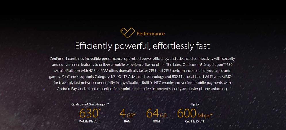 Asus ZENFONE 4 (ZE554KL) hardware