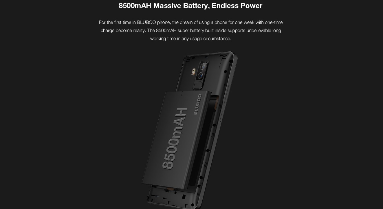 Bluboo S3 - Batería