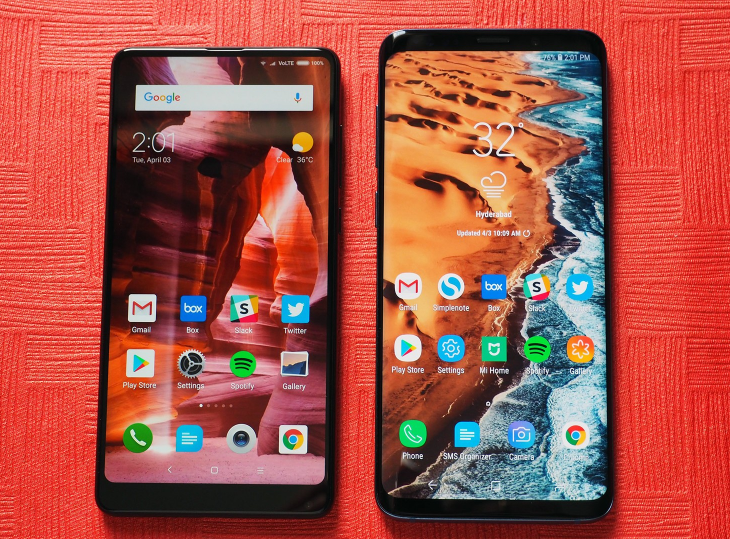 Xiaomi Mi Mix 2S vs Samsung Galaxy S9+