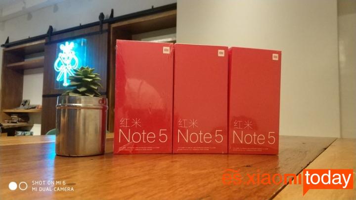 Redmi Note 5 Versión China Caja Frontal