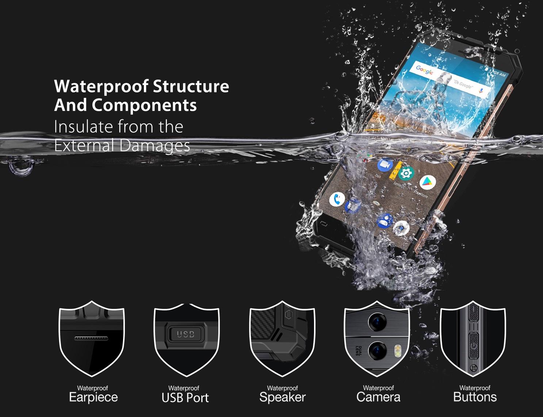 Ulefone Armor X - Diseño, construcción y resistencias