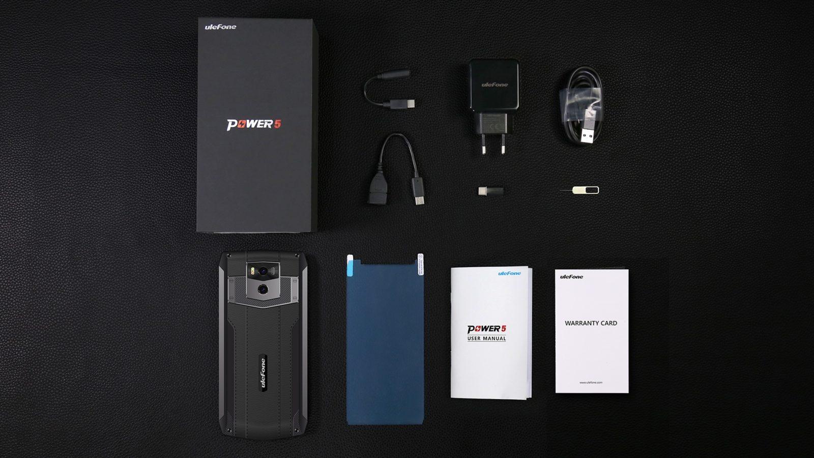 Ulefone Power 5 - Caja y accesorios