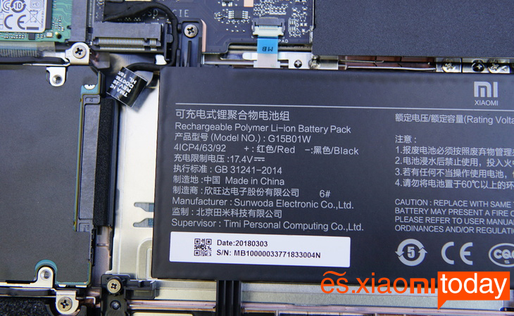 Xiaomi Gaming Laptop Análisis - Diseño