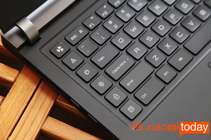 Xiaomi Gaming Laptop Análisis - Teclado y touchpad