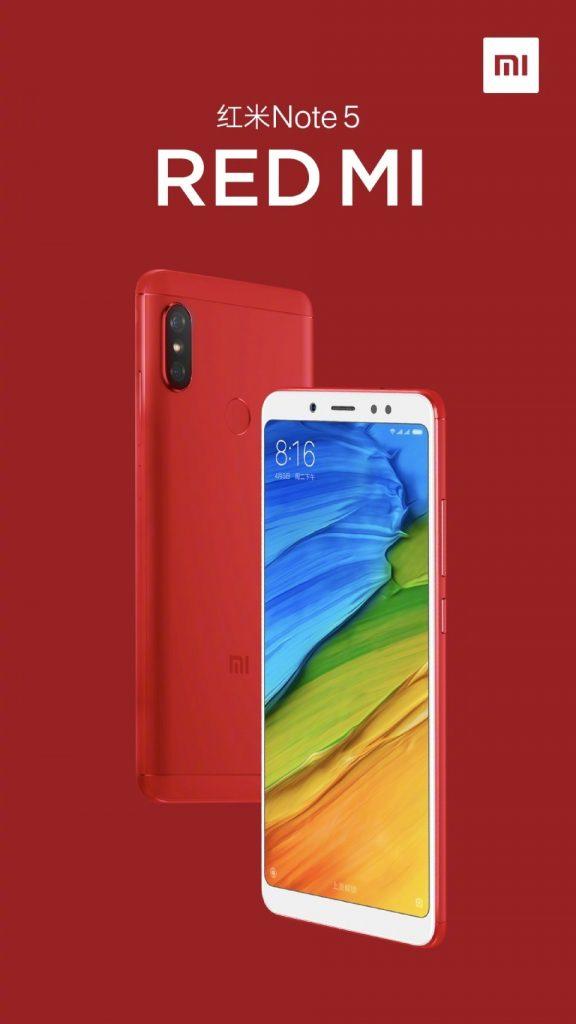 Xiaomi está próximo a lanzar al Redmi Note 5 versión roja