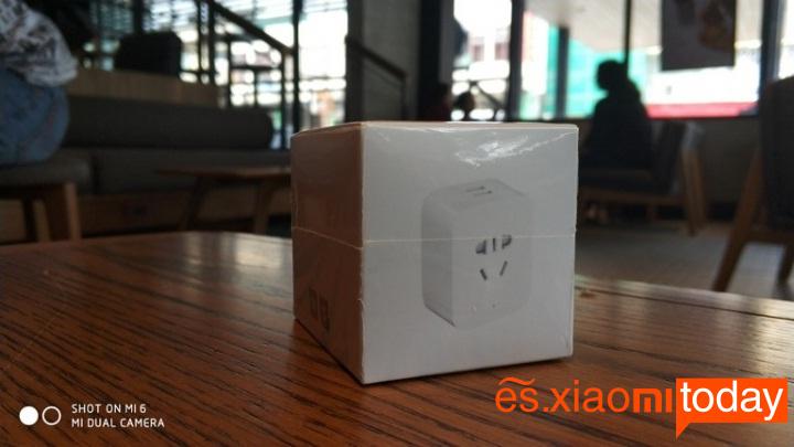 Xiaomi mijia Smart socket caja parte frontal
