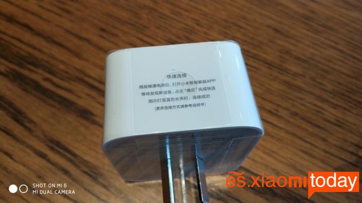 Xiaomi mijia Smart socket diseño parte inferior