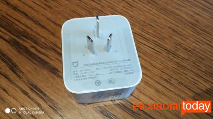 Xiaomi mijia Smart socket diseño parte posterior