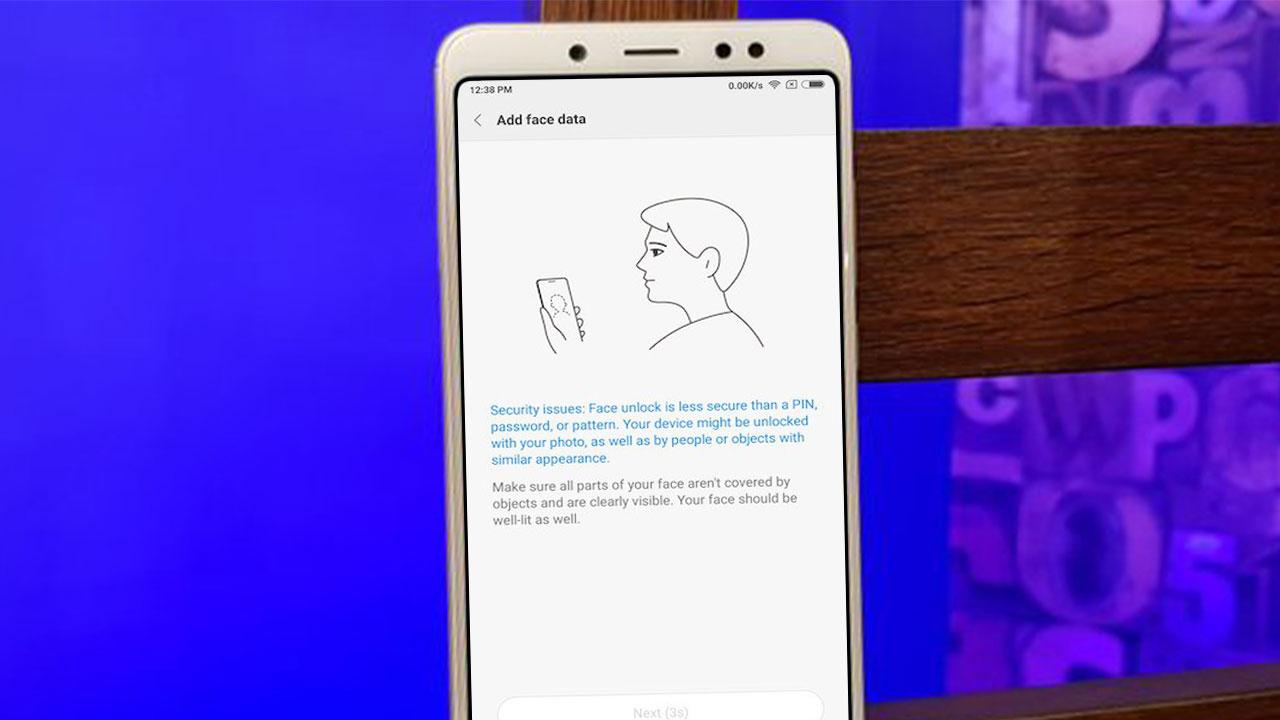 Configuración del desbloqueo facial en el Xiaomi Mi 5