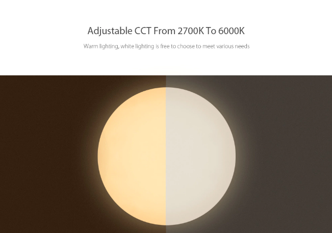 Yeelight JIAOYUE 650 rango de luz