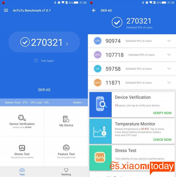 Xiaomi BlackShark Análisis - Rendimiento y jugabilidad