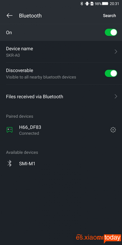 Xiaomi BlackShark Análisis - Conectividad