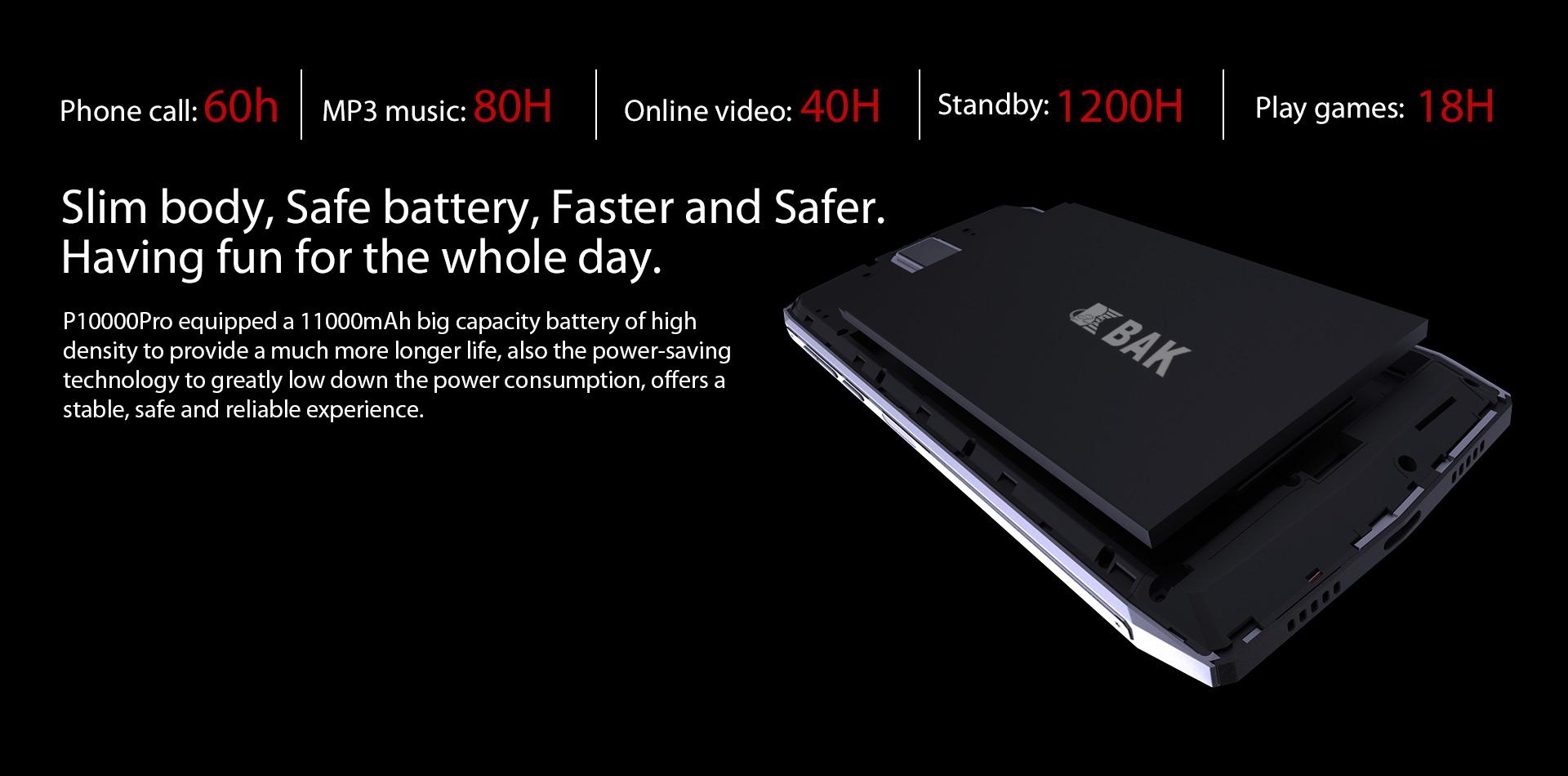 Blackview P10000 Pro - Batería