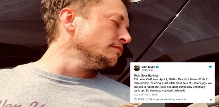 Elon Musk tesla motors banca rota