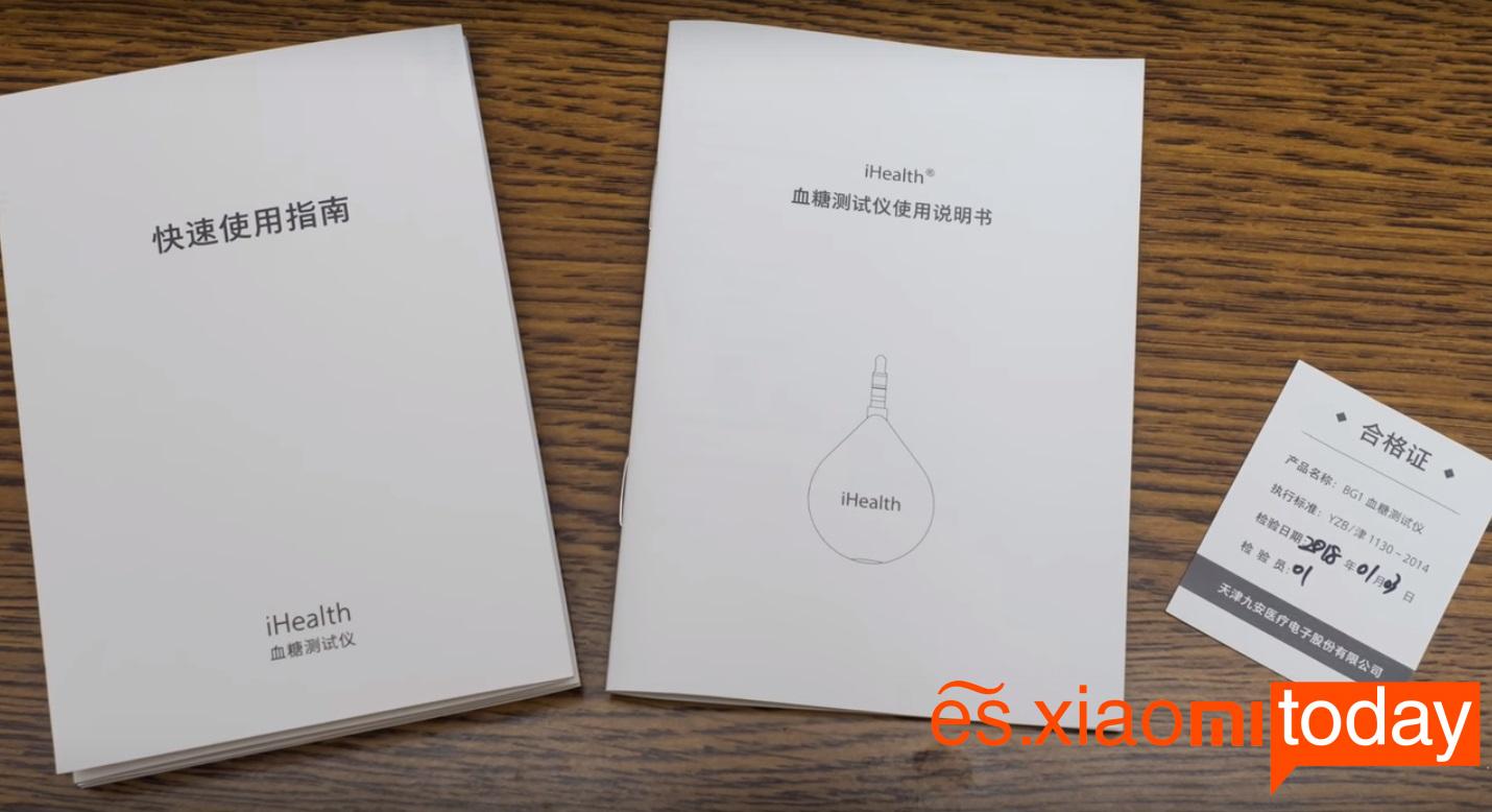 Xiaomi iHealth Smart Glucose Meter Análisis - Especificaciones