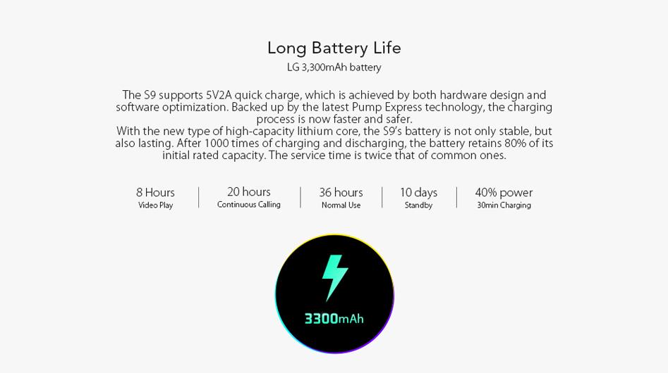 LEAGOO S9 - Batería