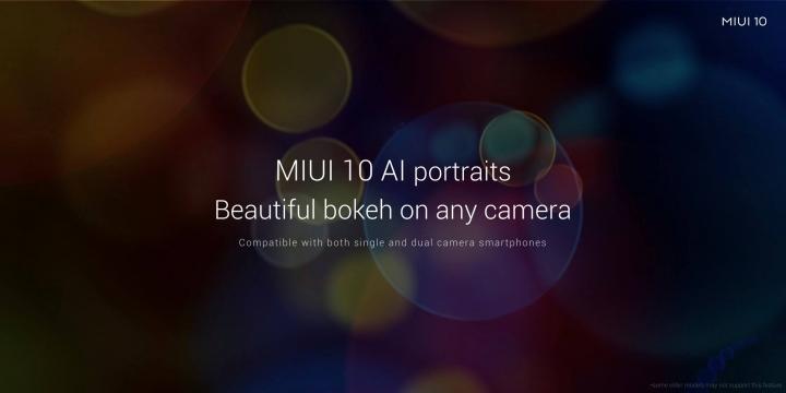 Modo Retrato con MIUI 10 Bokeh