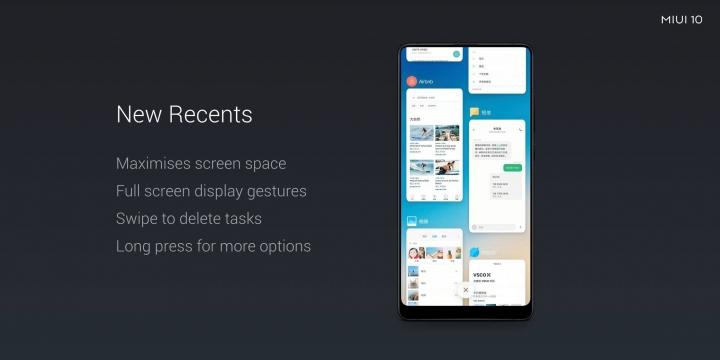 MIUI 10 - pantalla completa