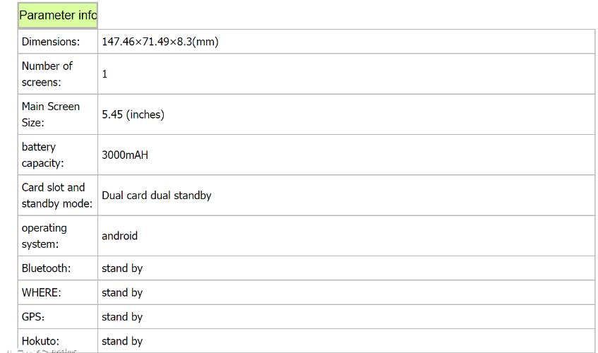 Xiaomi Redmi 6A Filtración