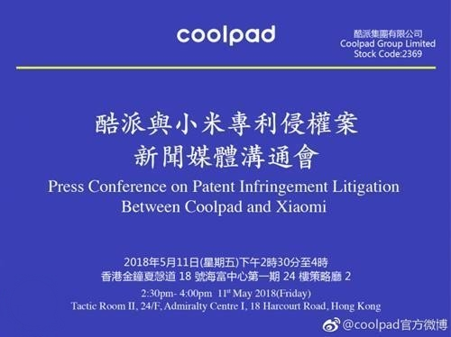 Demanda de Coolpad hacia Xiaomi