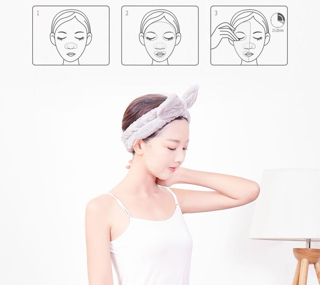 Mascarilla facial hidratante Xiaomi Beauty Cosme Enzyme - Cómo aplicar