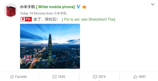 Nuevo evento de lanzamiento de Xiaomi