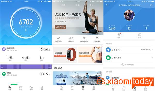 Xiaomi Mi Band 3 aplicación