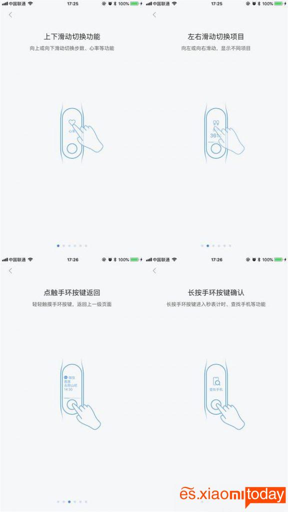 Xiaomi Mi Band 3 usos