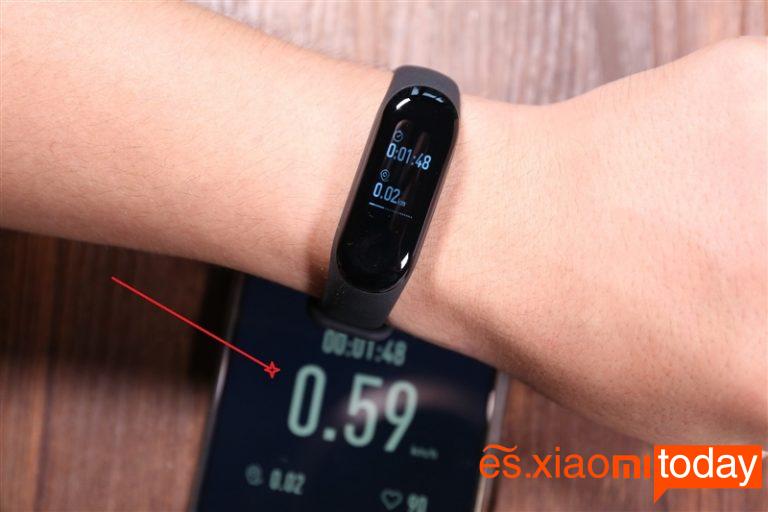 Xiaomi Mi Band 3 acelerómetro
