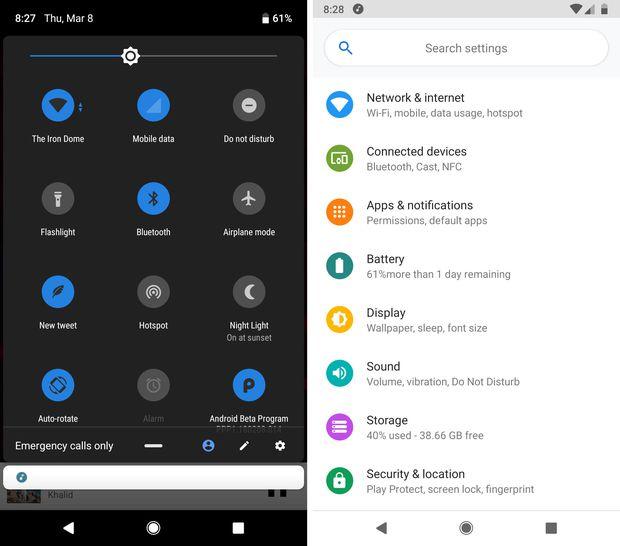 Android P en el Xiaomi Mi MIX 2S
