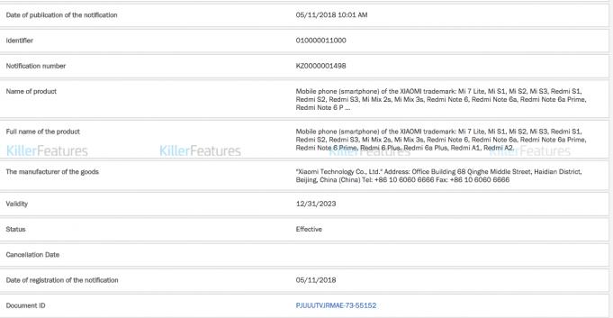 Se ha filtrado la lista de la línea de productos de Xiaomi