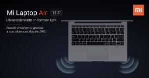Especificaciones de la Mi Laptop Air para España