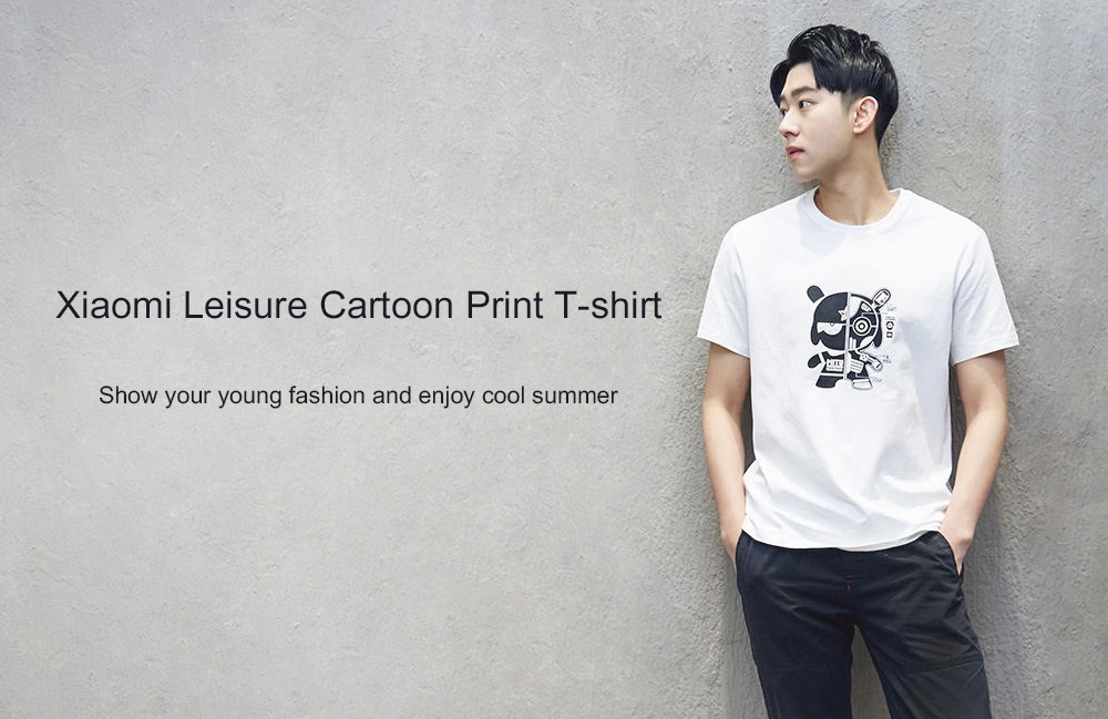 Compendio de verano - Xiaomi Leisure Cartoon Print Short Sleeve T-shirt