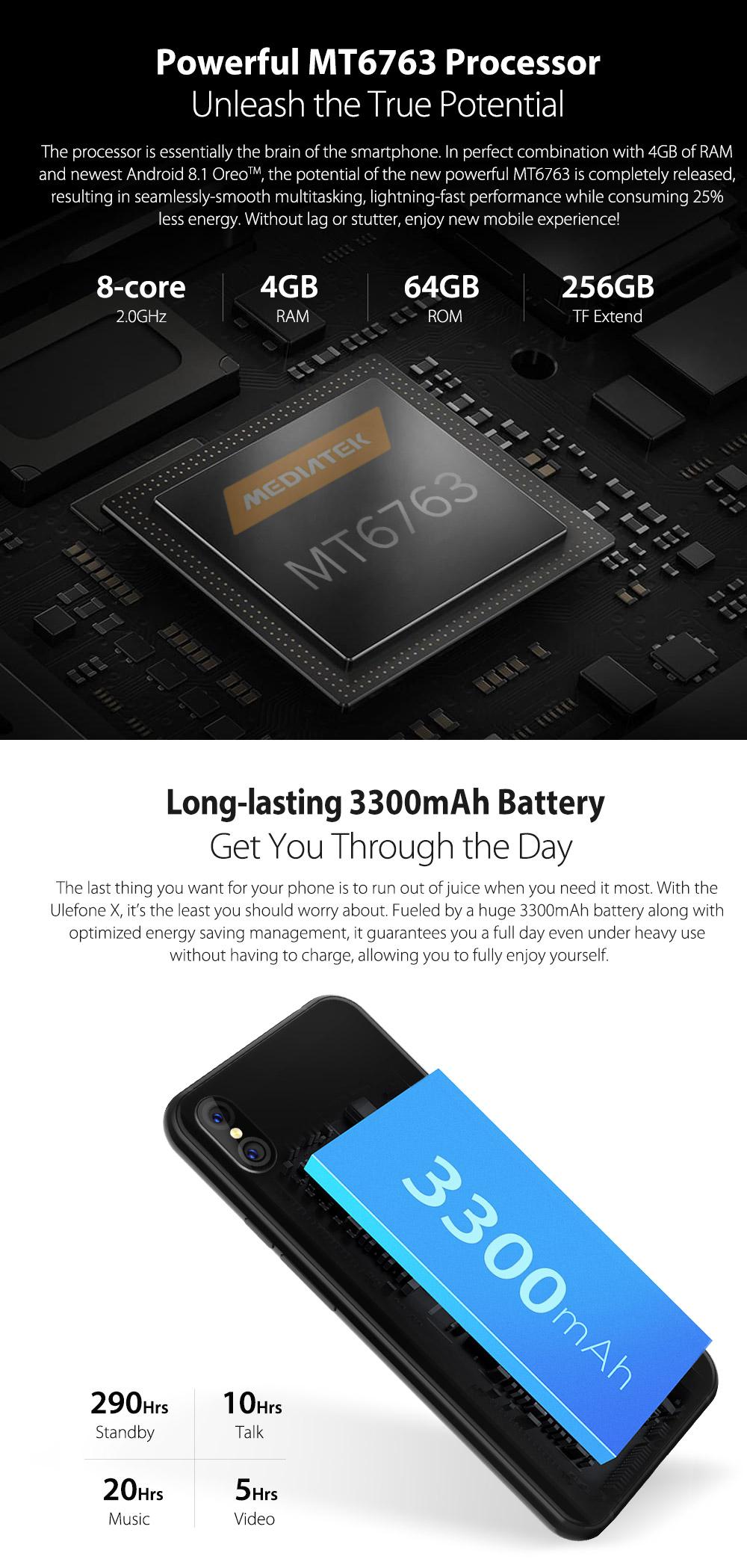 Ulefon X Hardware y rendimiento