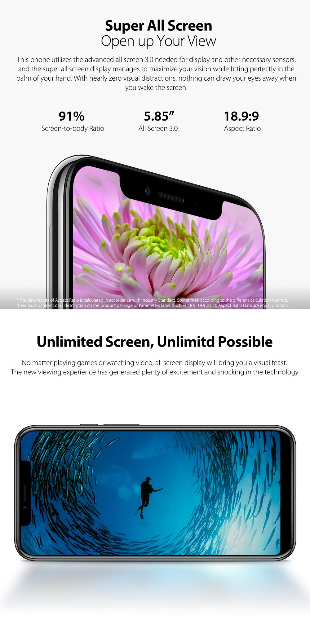 Ulefon X pantalla