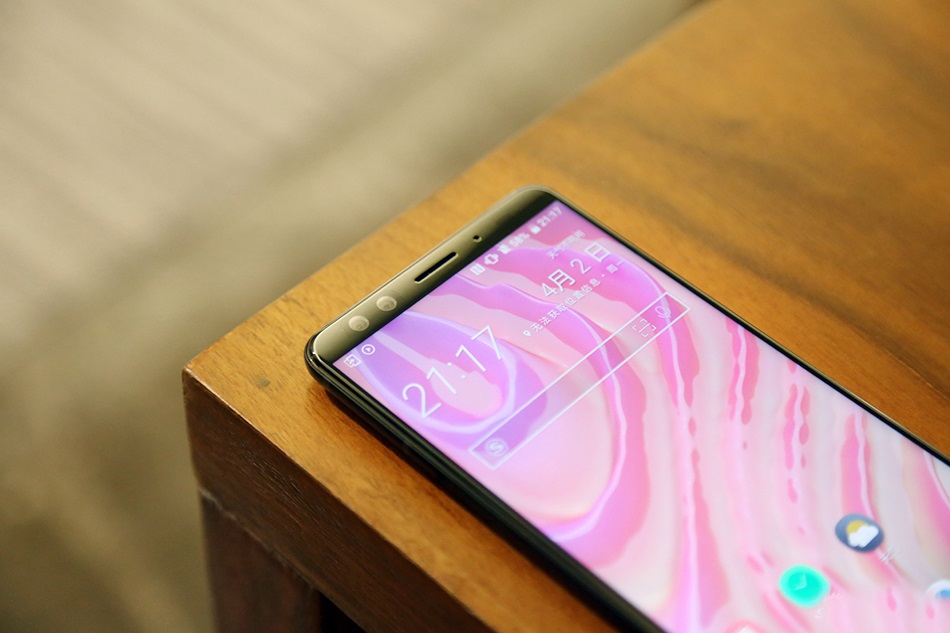 HTC U12+ Parte frontal