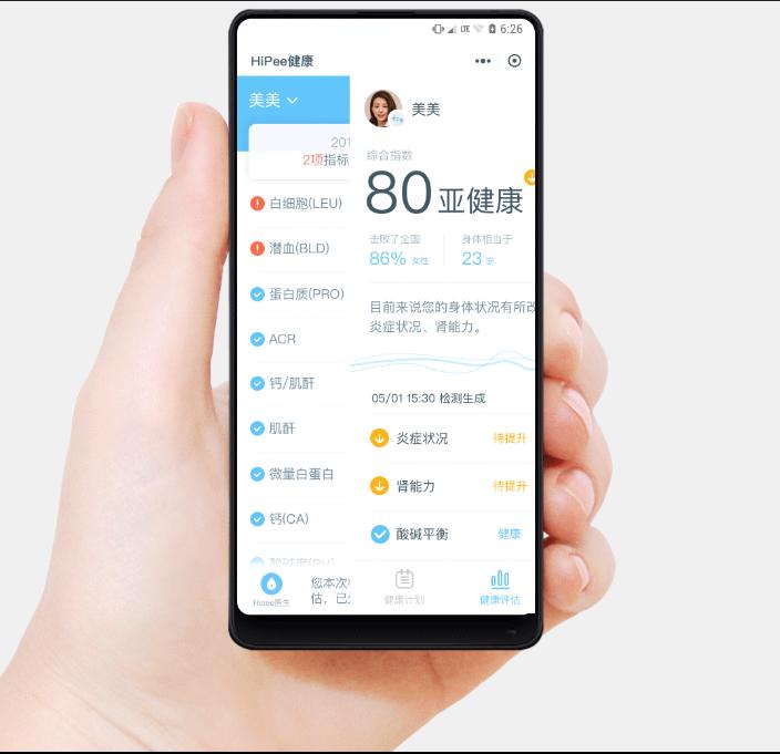 HiPee Smart Health Wizard Conectividad